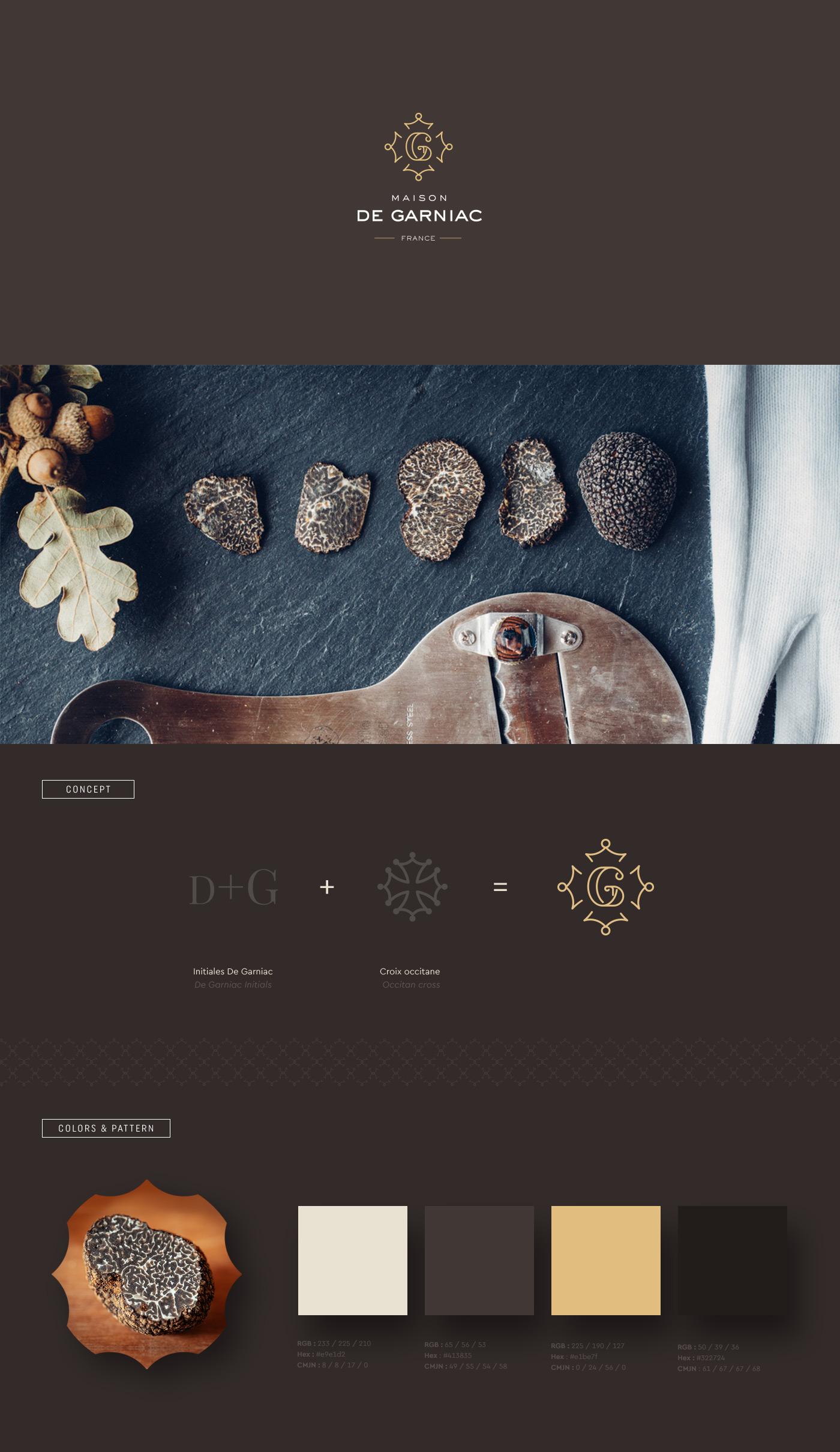 Maison de Garniac : création de l'identité visuelle