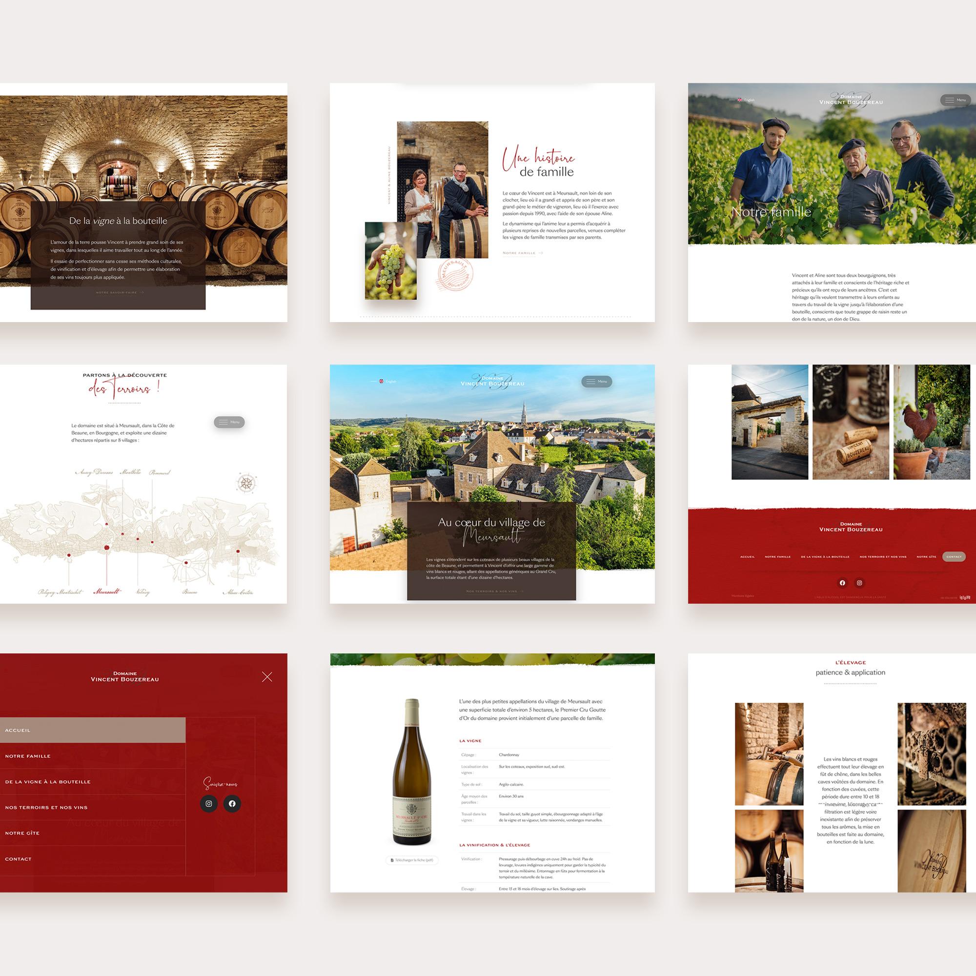 Création site domaine viticole